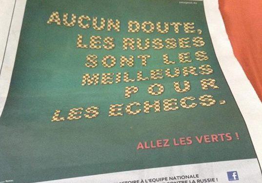 #Humour : Peugeot Algérie tacle les russes #WorldCup2014
