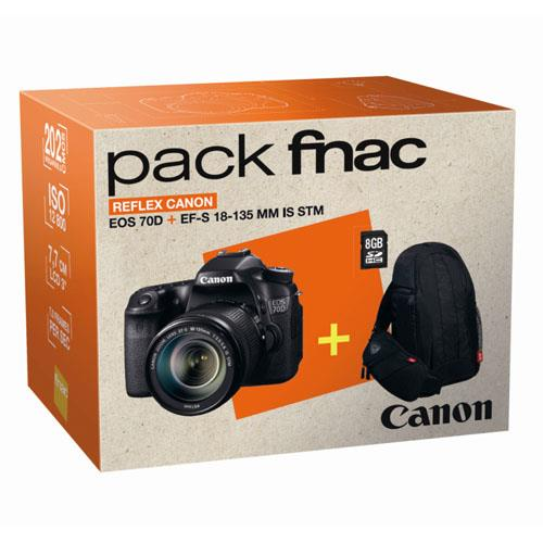 8 Pack Fnac Canon EOS 70D