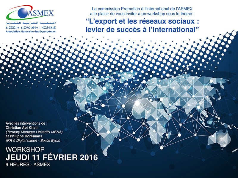 Rencontre : Export et réseaux sociaux, un levier de succès à l'international