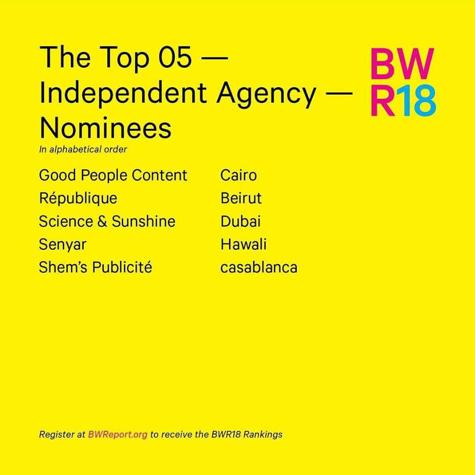 BR REPORT Top 5 independant agencies