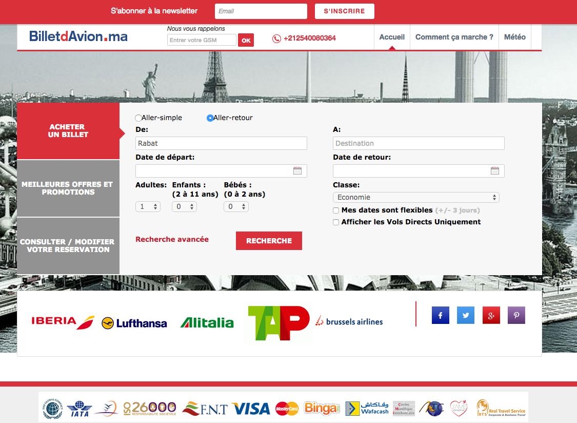 Billetdavion.ma : un nouveau site dédié à la vente en ligne