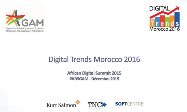 Digital Trends Morocco : Synthèse de l'étude 2016