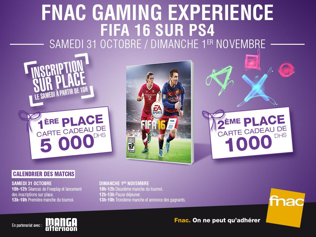 « FNAC GAMING EXPERIENCE »  de retour à la Fnac Morocco Mall
