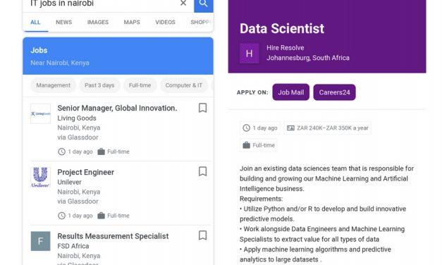 Google Search, au service des demandeursd'emploi en Afrique