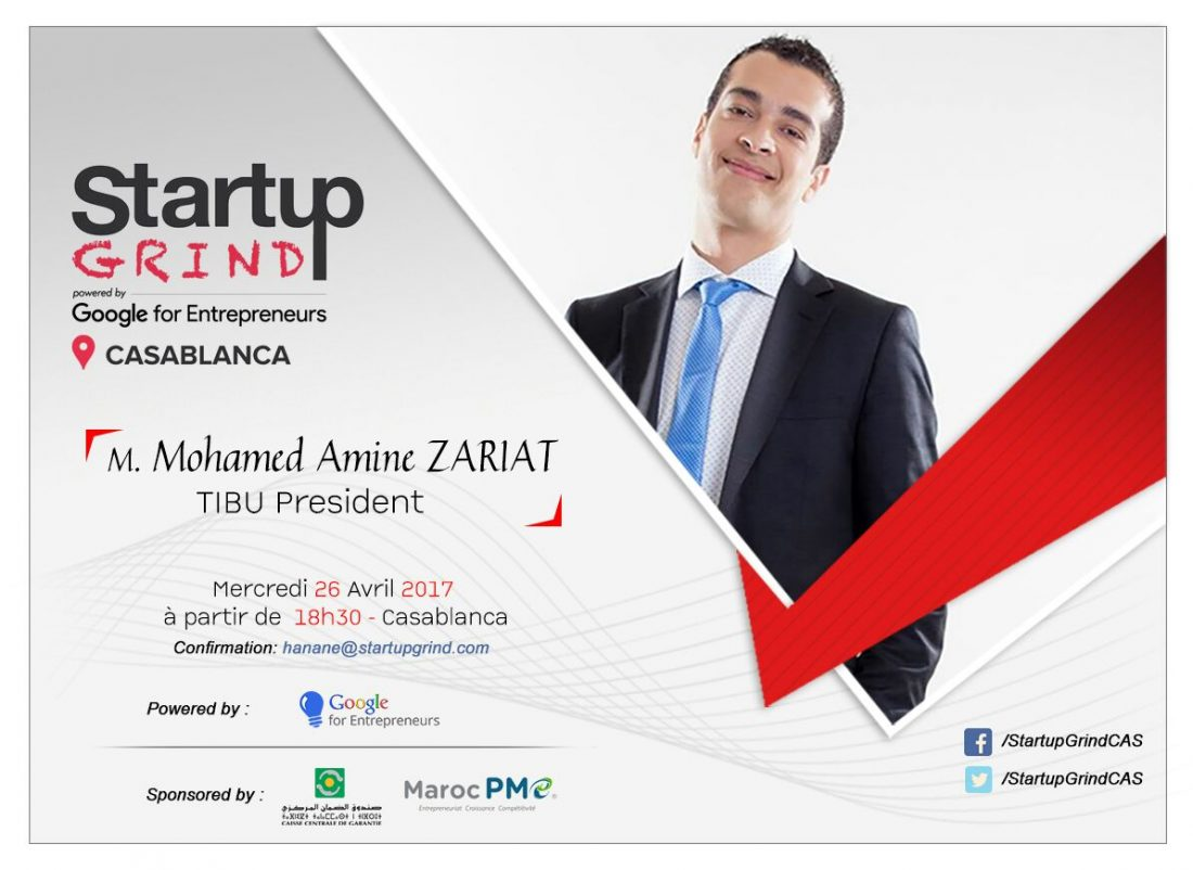 Startup Grind Talkshow : Mohamed Amine Zariat, Président-Fondateur de Tibu Maroc