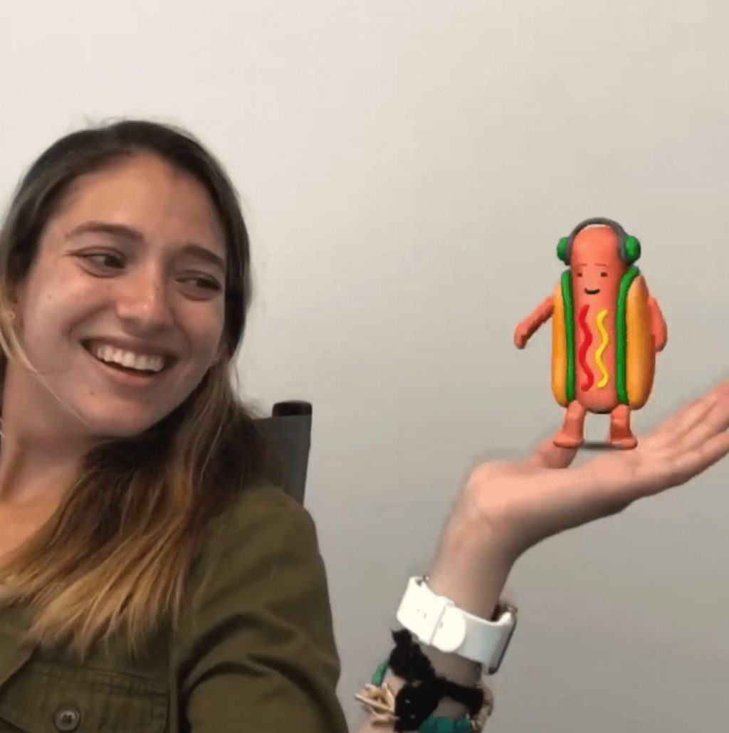 Hot dog Snapchat