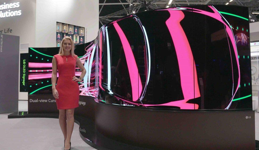 LG dévoile ses nouvelles technologies Open Frame OLED et Ultra Stretch