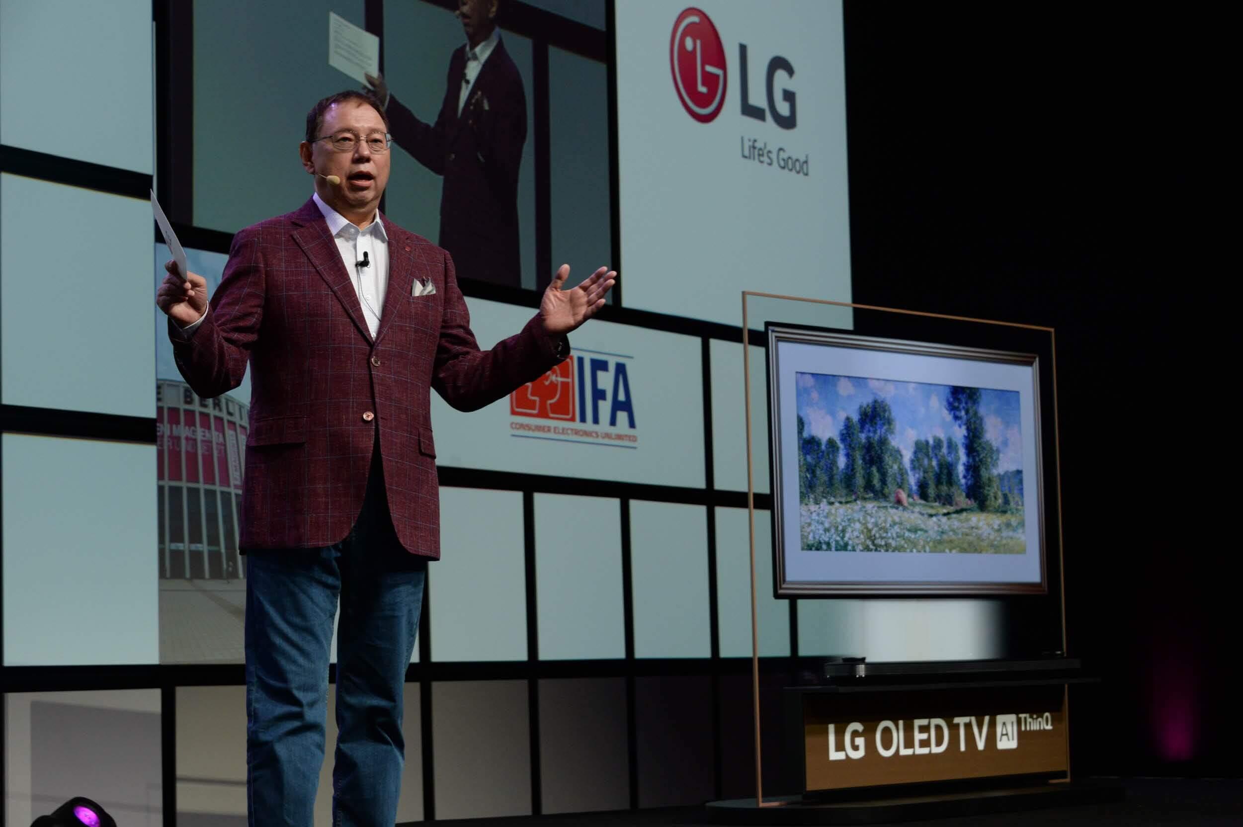 LG CEO LG OLED