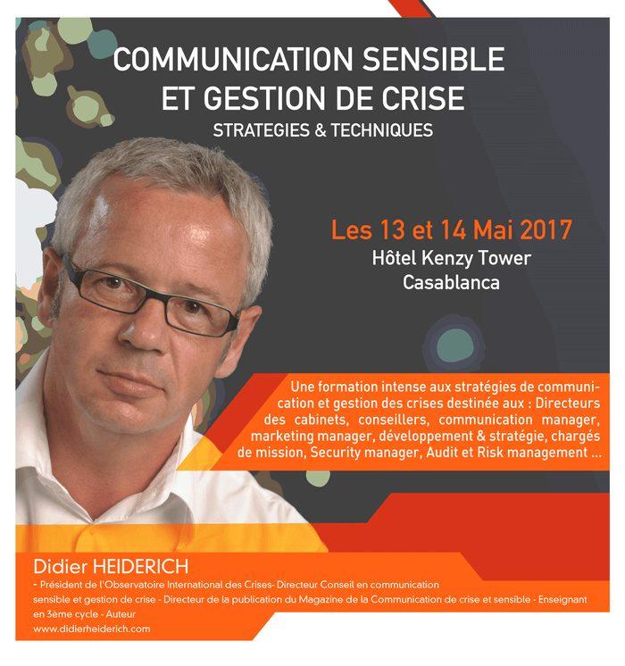 MasterClass en gestion des crises et communication sensible