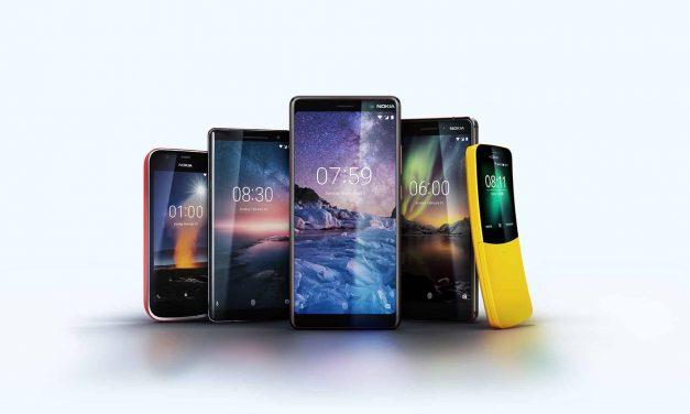 Cinq nouveaux téléphones Nokia