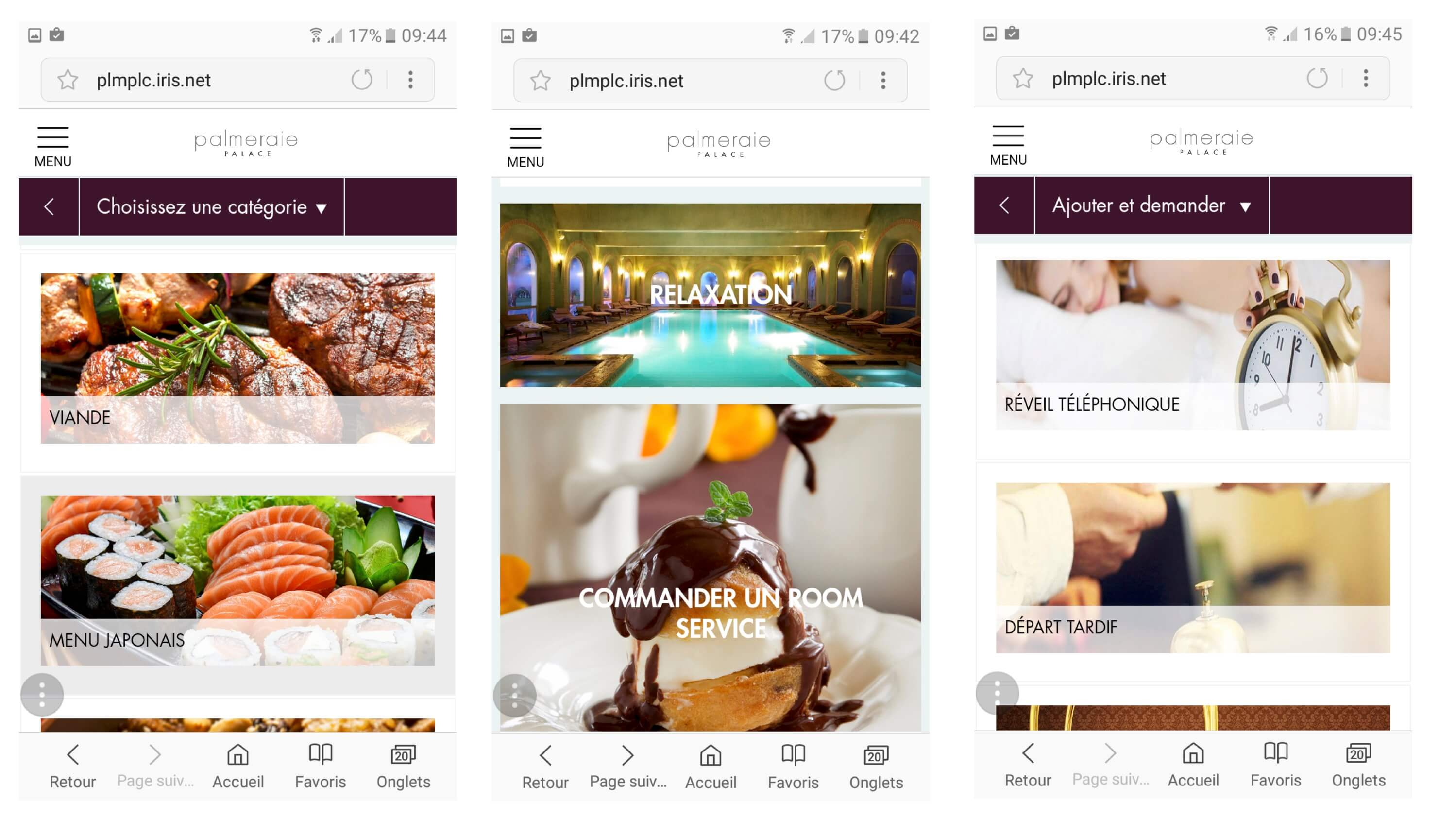 Palmeraie Palace Conciergerie App Mobile 01
