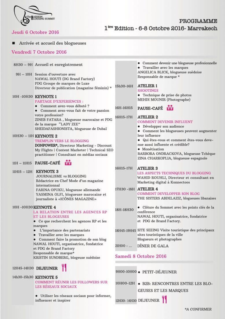 Programme FBS