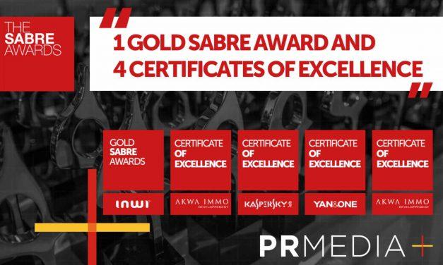 PR MEDIA distinguée par les SABRE Awards Africa 2018