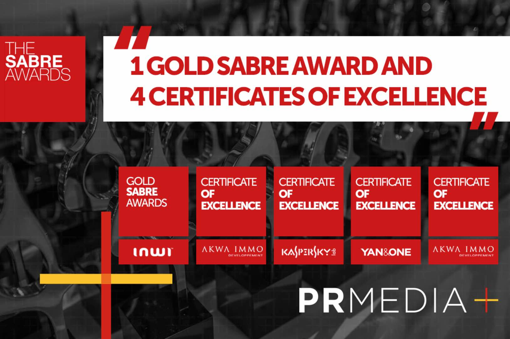 PR MEDIA distinguée par les SABRE Awards Africa 2018