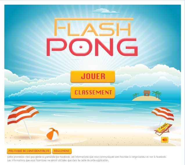 #Advergame : Flash lance Flash Pong