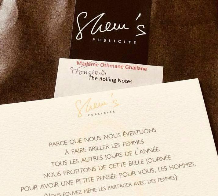 8 mars : Shem's Publicité surprend