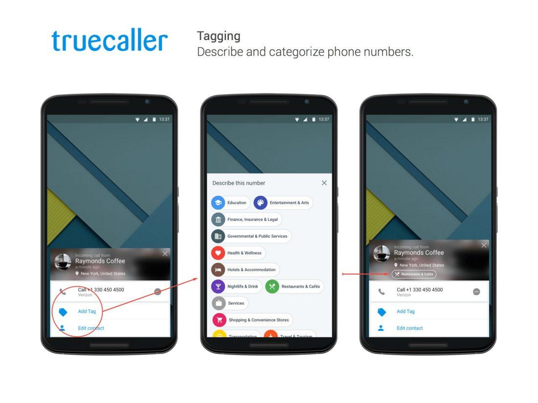 Truecaller vient de franchir la barre des 200 millions d'utilisateurs et lance une nouvelle fonction de Tagging
