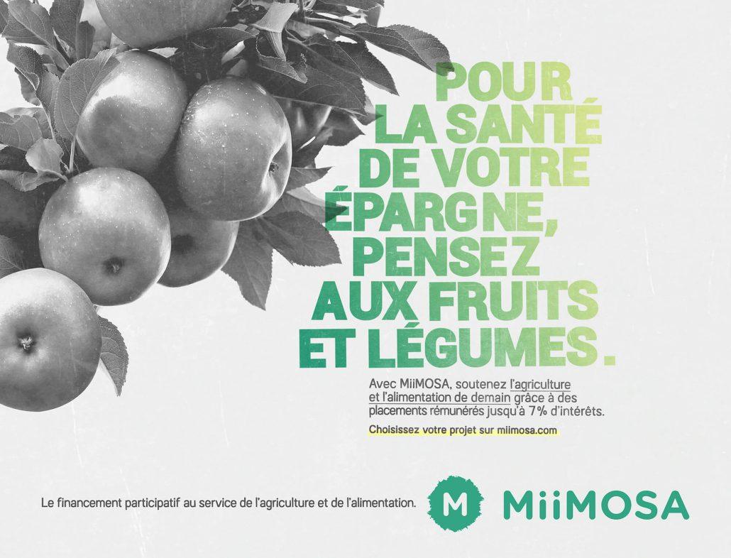 Visuel Fruits et légumes campagne Miimosa