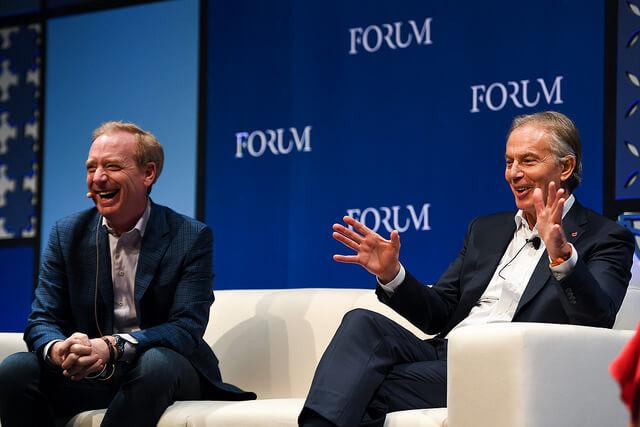 Web Summit Brad Smith Tony Blair