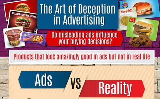 [ #Infographie ] The art of deception : Les petits trucs des publicitaires pour sublimer (ou travestir) la réalité