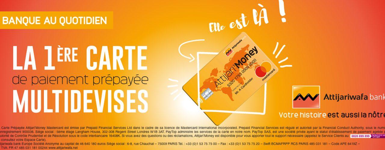 Attijari'Money : Nouvelle carte prépayée multidevises et 100% digitale lancée par Attijariwafa bank Europe