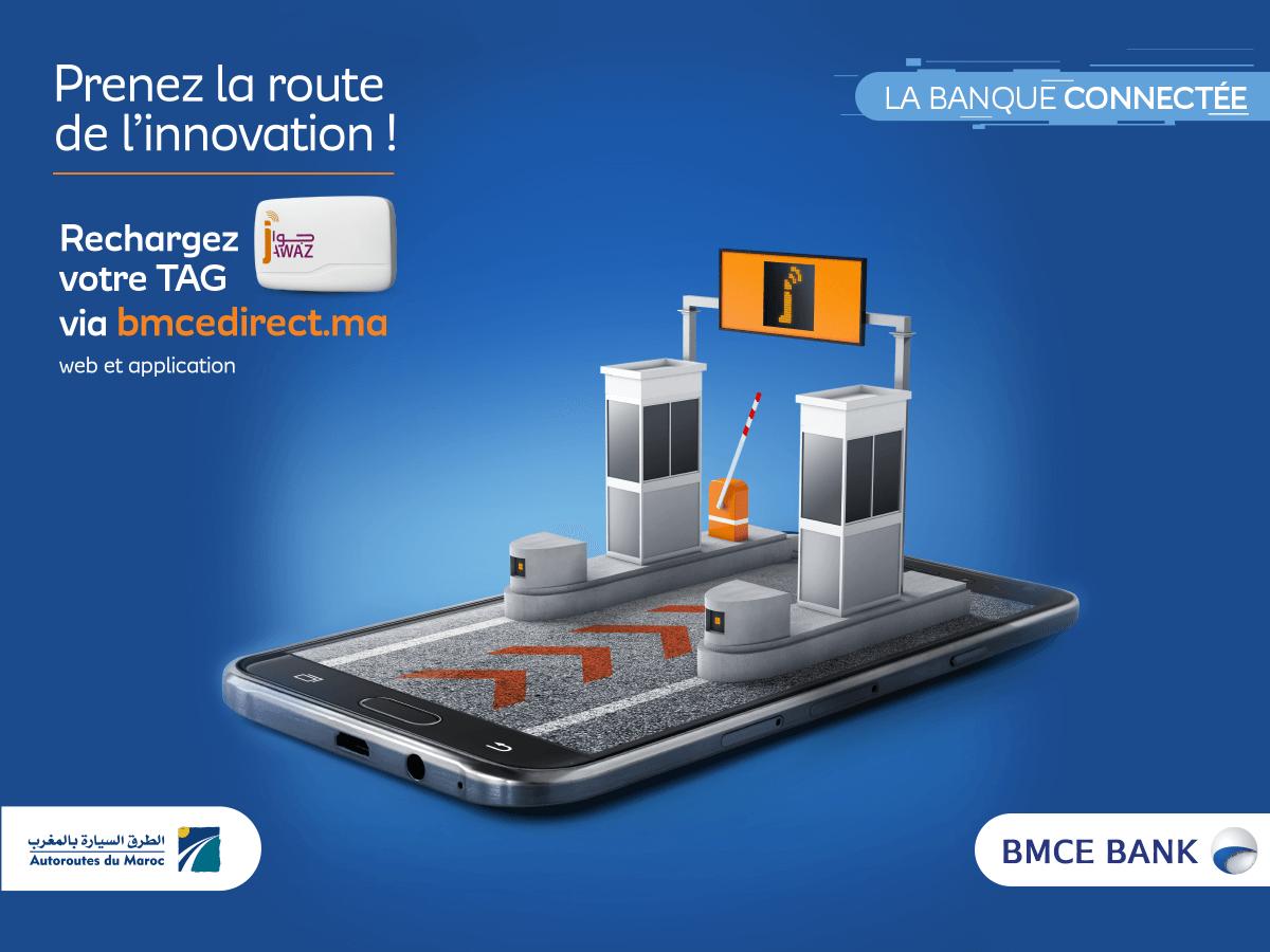 BMCE Bank lance le service de recharge «Tag Jawaz» via BMCE Direct