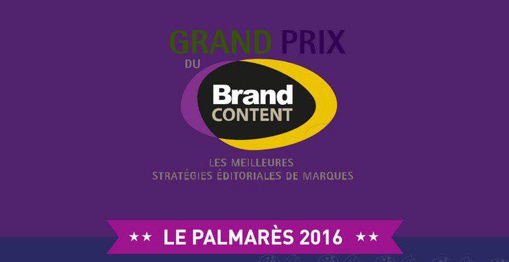 #France : Grand Prix du Brand Content, le palmarès 2016