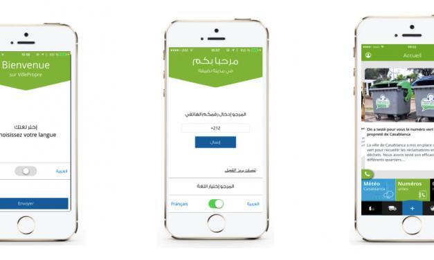 Application Mobile : Lancement de « Casa Mdinti Propreté »