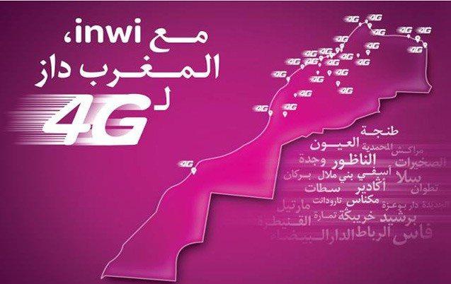 4G par inwi : 70 localités couvertes