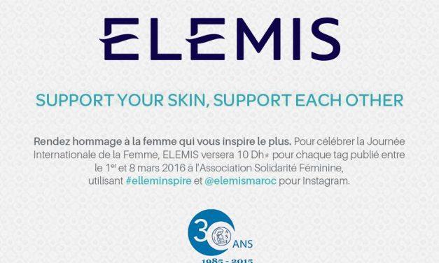 #elleminspire : Elemis lance une opération de marketing solidaire