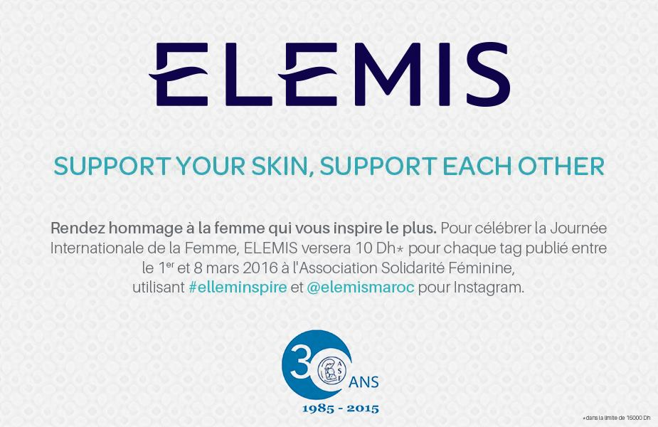 #elleminspire : Elemis lance une opération de marketing solidaire