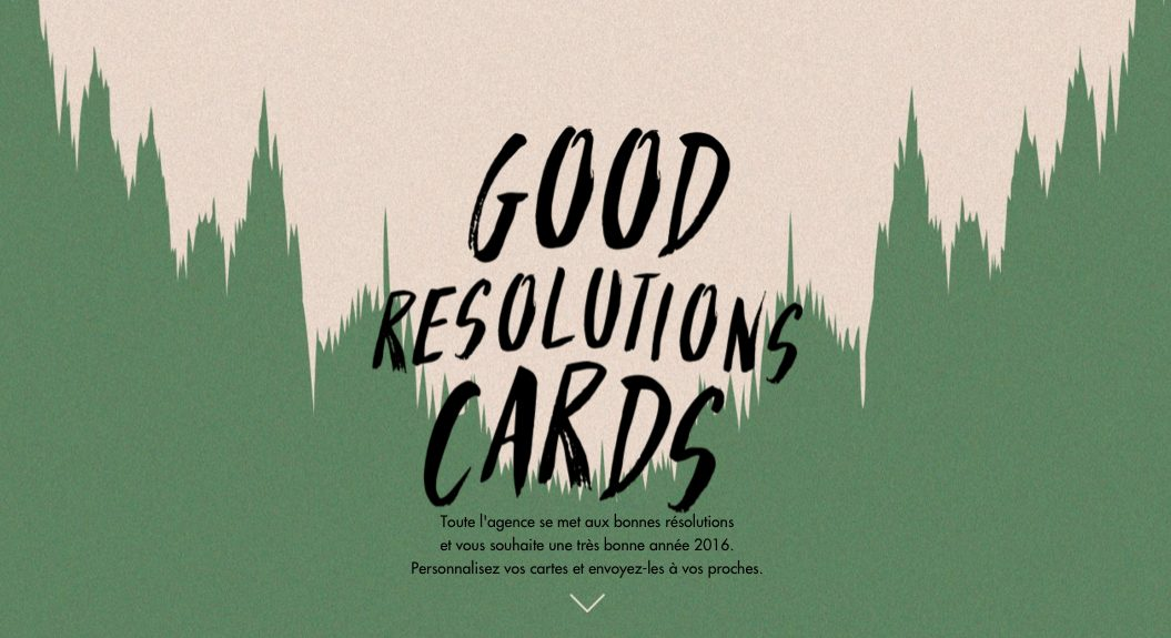 good resolutions cards