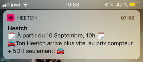 heetch notification