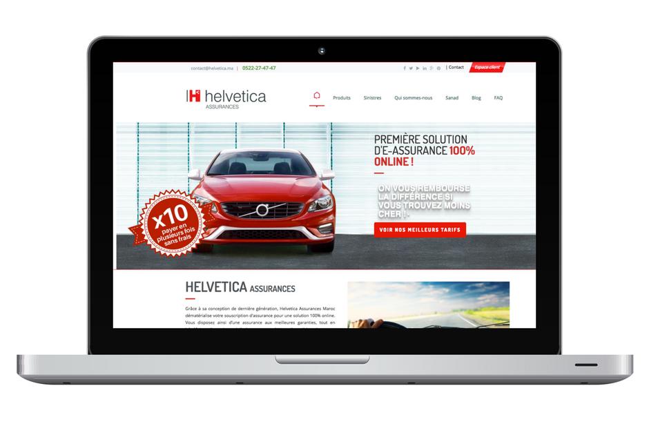 Helvetica, assurance auto 100% en ligne