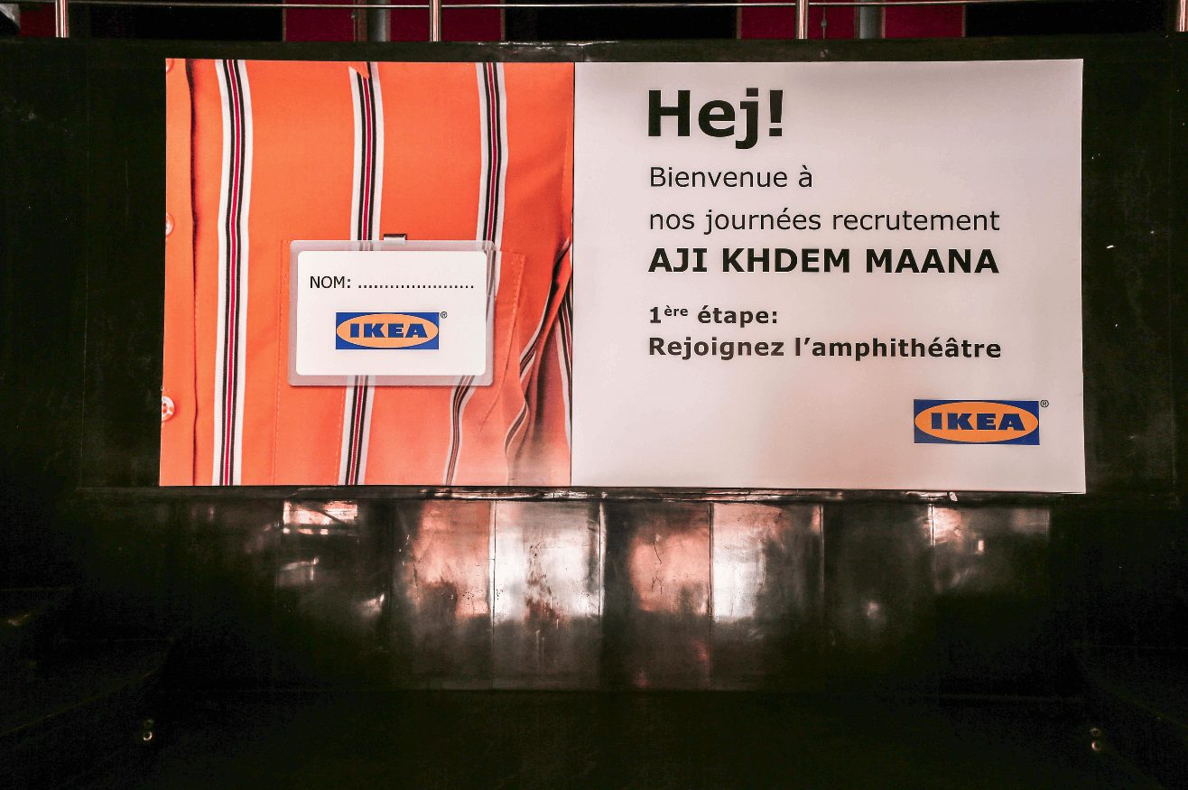 [ Reportage photos ] Aji Khdem Maana, le dispositif de recrutement original d'IKEA