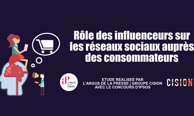 Etude / Infographie : Rôle des influenceurs sur les réseaux sociaux auprès des consommateurs