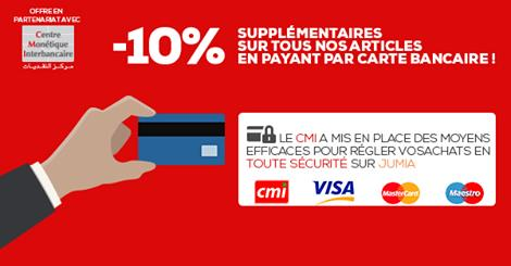 Partenariat : Jumia Maroc et CMI encouragent le paiement par Carte Bancaire