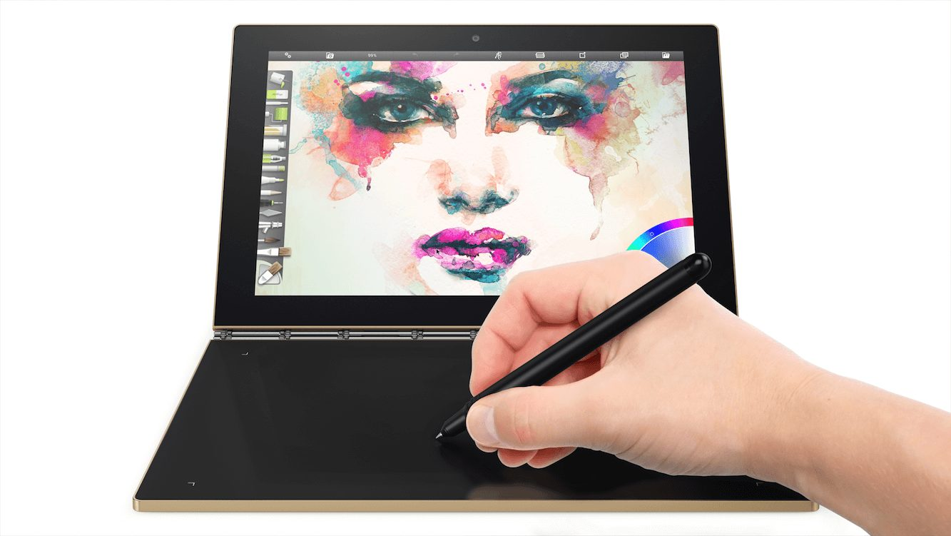 lenovo yoga book painting