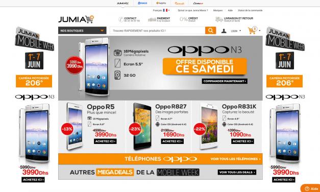 Jumia réussit à attirer 1,7 millions de marocains en une semaine et vend plus de 4.000 smartphones