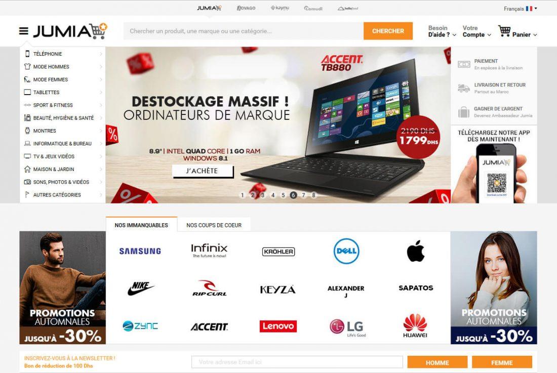 Jumia dévoile son nouveau site web