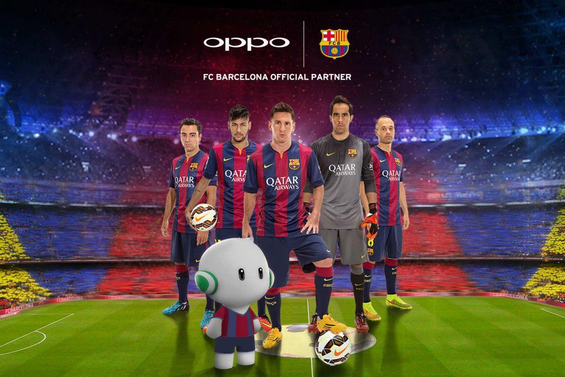 Oppo, nouveau partenaire du Barça