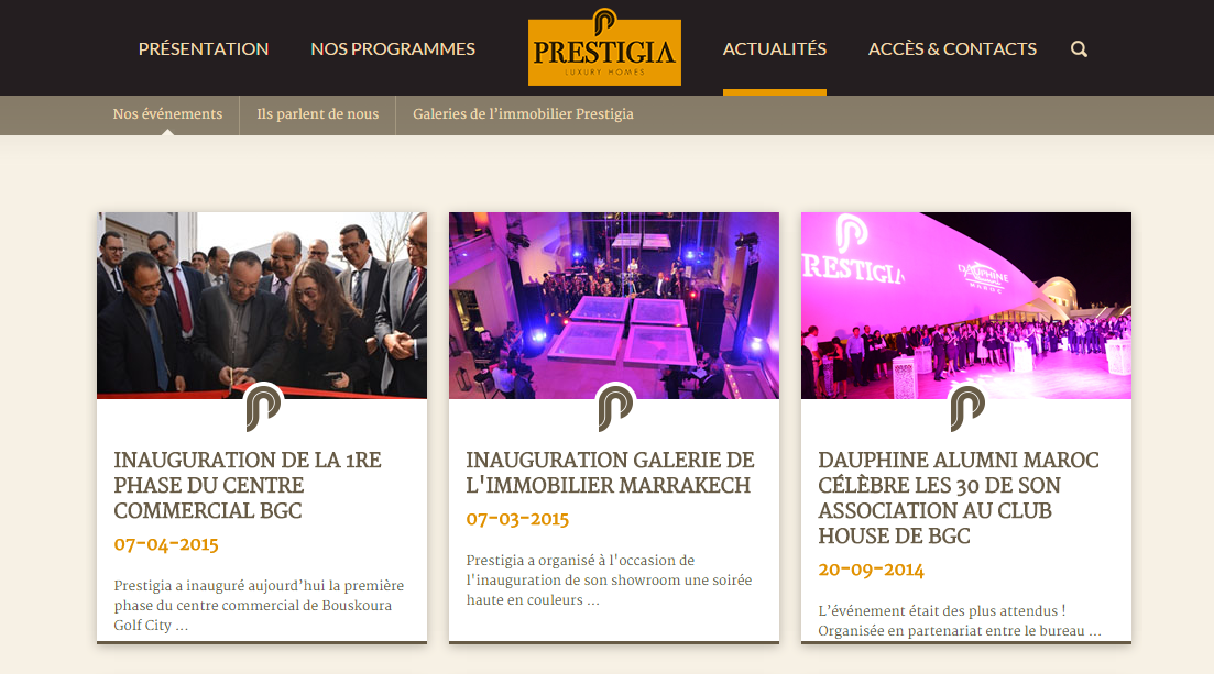 prestigia-website