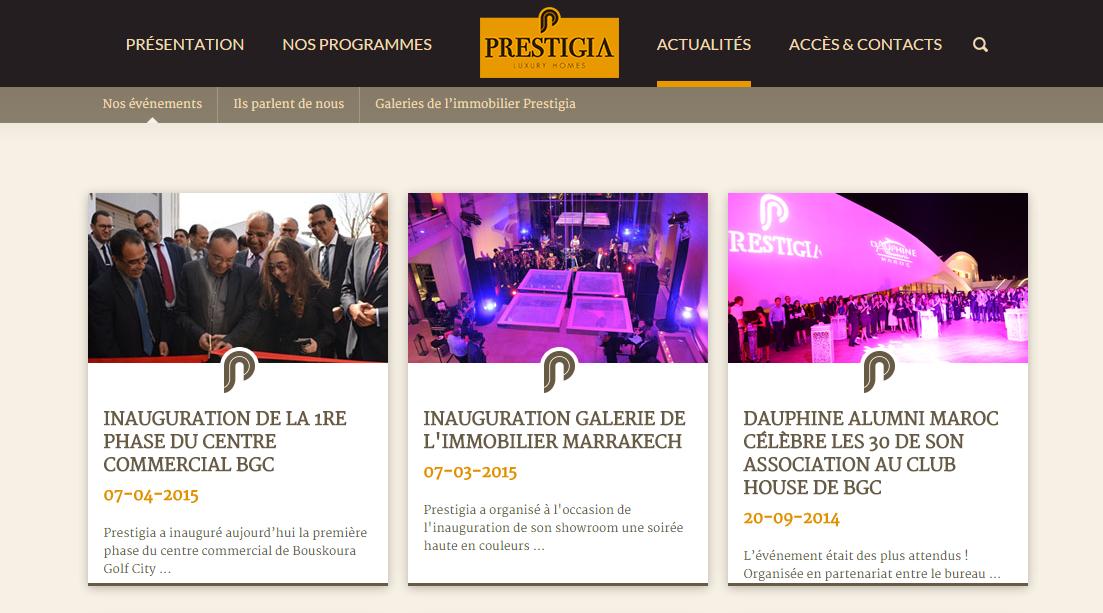 prestigia-website