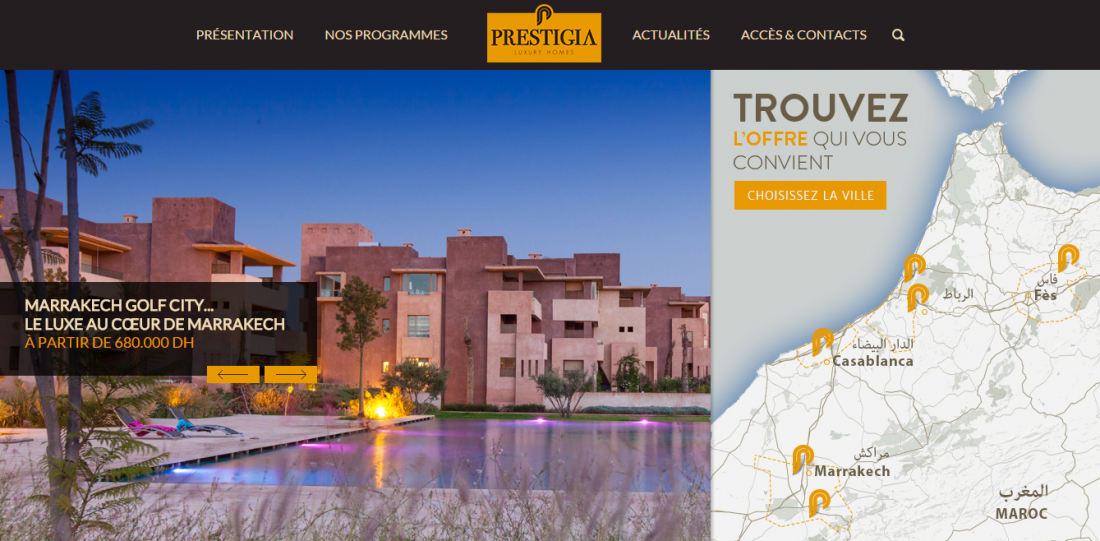 Prestigia lance une nouvelle version de son site internet