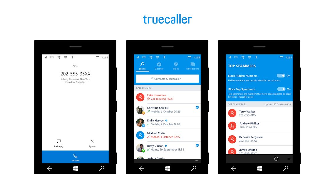 Truecaller lance sa version pour Windows 10