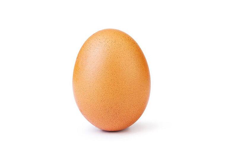 Un œuf explose le record de likes sur Instagram