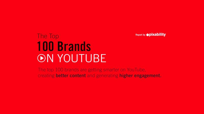 Infographie / Etude : The Top 100 Brands on YouTube